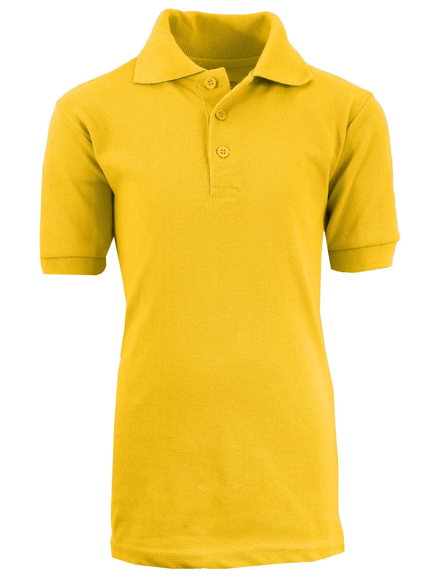 Boys Short Sleeve School Uniform Pique Polo Shirts - Sizes 4-20