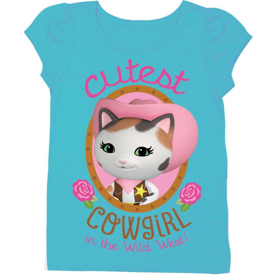 Sheriff Callie/'s Wild West Kids T-Shirts 2 Designs 7 Colours Sizes 1-15