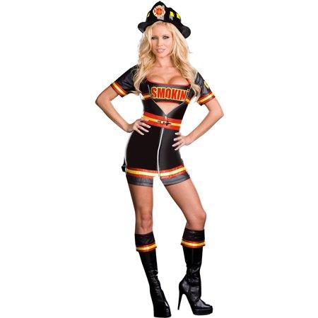 Smokin' Hot Women's Plus Size Adult Halloween Costume (Halloween Hot Appetizer Ideas)
