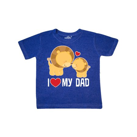 c978e1d8 Inktastic - Fathers Day I Love My Dad Boys Lion Toddler T-Shirt ...