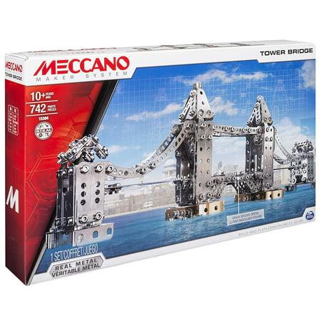 Toy Tower (Meccano Tower Bridge Model Toy STEM Building Set Kit 742 Pieces )