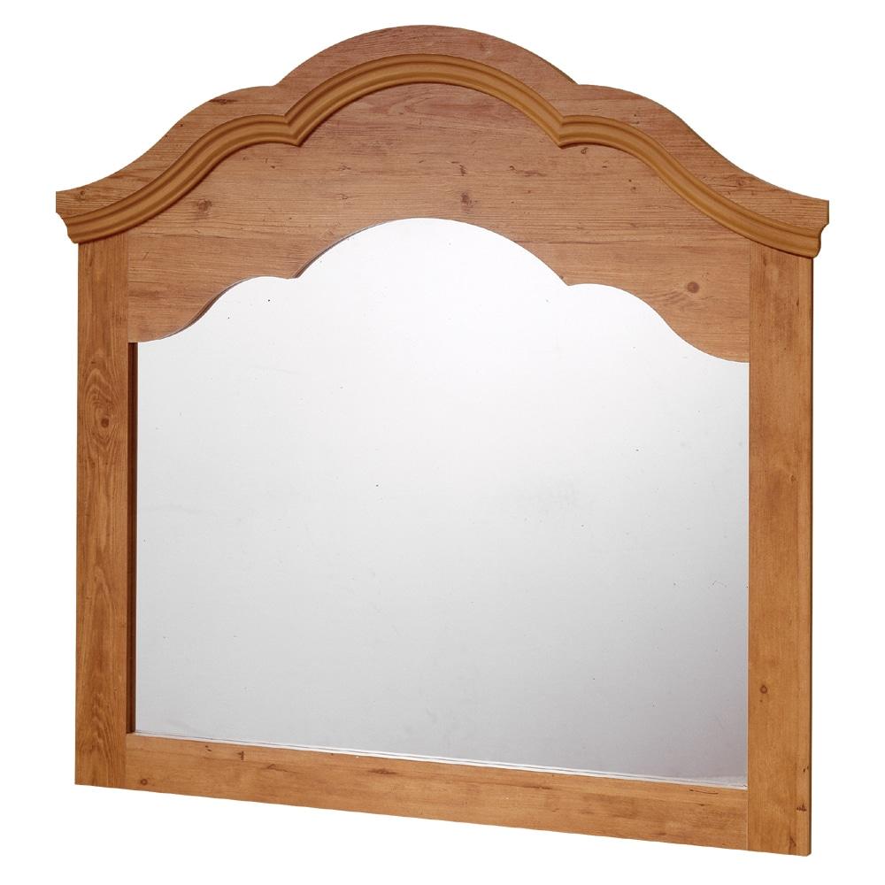 South Shore Prairie II Mirror, Country Pine