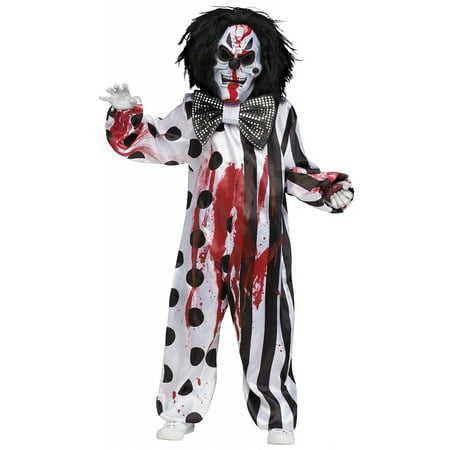Bleeding Killer Clown Child Costume - Large (Jigsaw Killer Costume)