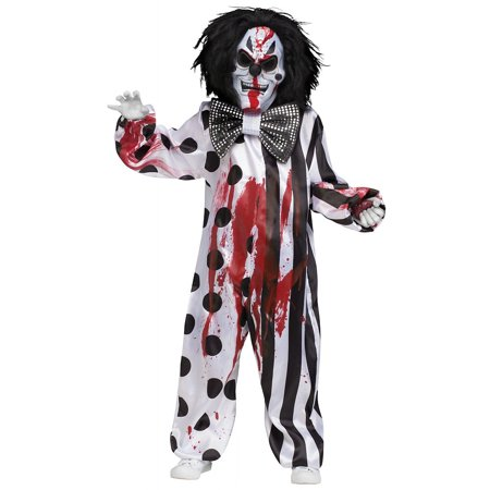 Bleeding Killer Clown Child Costume - Large](Killer Clown Costumes For Adults)