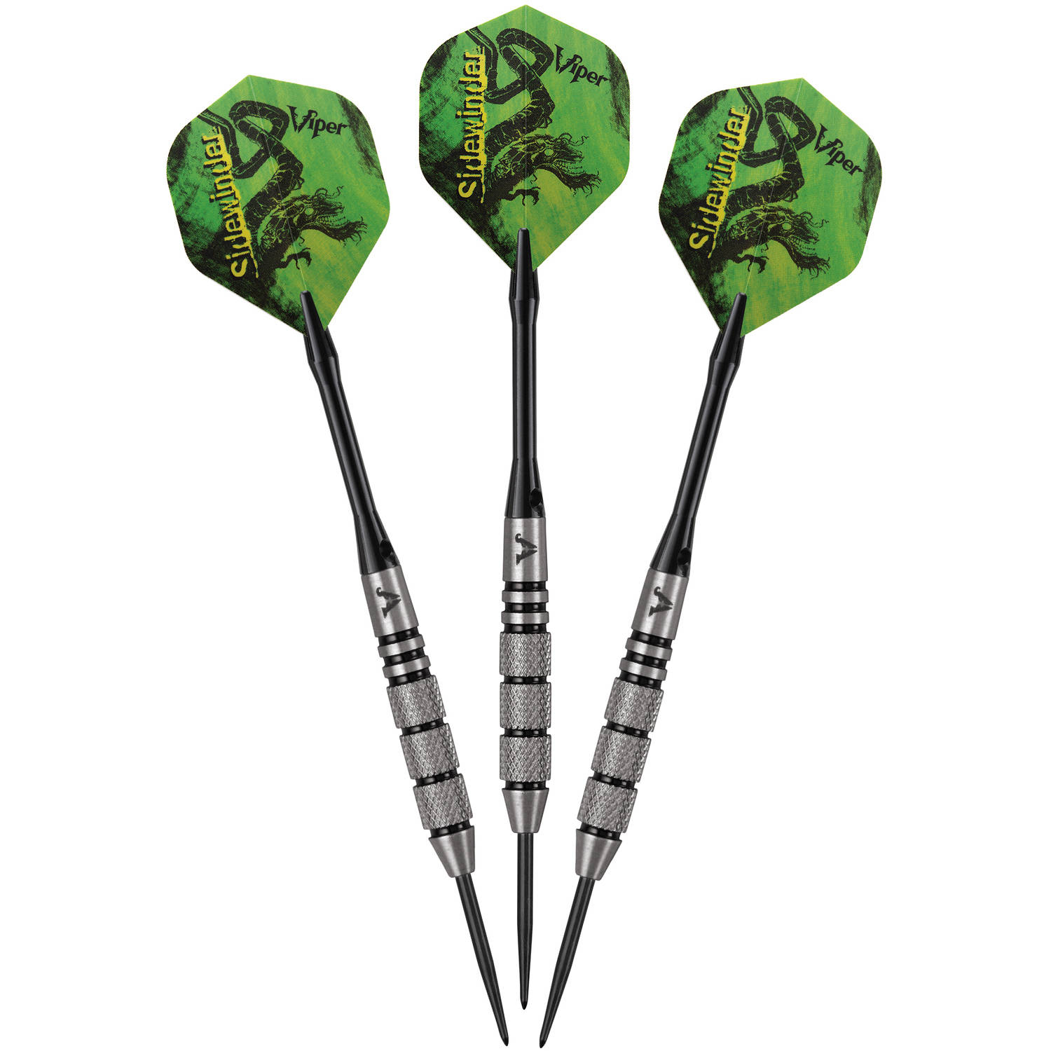 Viper 23g Sidewinder Steel Tip Dart Set 80/% Tungsten 23-1803-23 Flights Shafts