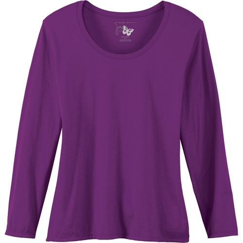 Just My Size by Hanes Women's Plus-Size Long Sleeve Scoopneck Tee