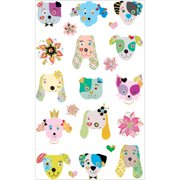 Mrs. Grossman's Stickers-Dogs Frilly Faces