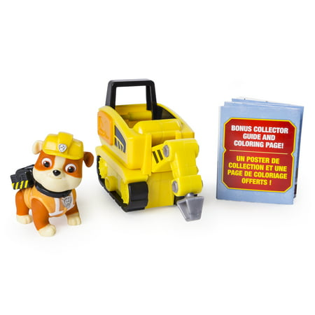 PAW Patrol Ultimate Rescue, Rubble's Mini Jackhammer Cart with Collectible Figure for Ages 3 and Up