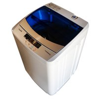 Panda 1.6 cu ft Compact 10-Function Top Load Washer, Blue Lid
