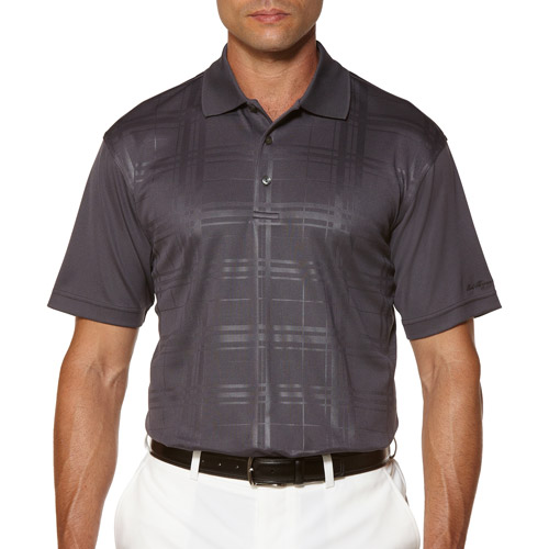 Ben Hogan Men's Short Sleeve EmboShort Sleeveed Plaid