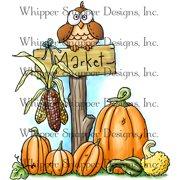 "Whipper Snapper Cling Stamp 4""X6""-Harvest Market"