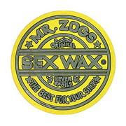 "Mr. Zoggs SEX WAX STICKER 3"" CIRCULAR METALLIC YELLOW"