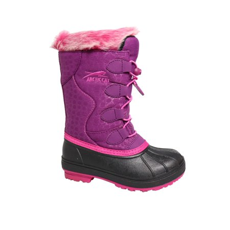 Arctic Cat Girls' Winter Snow Boot - Temperature Rated - Furry Boots For Girls
