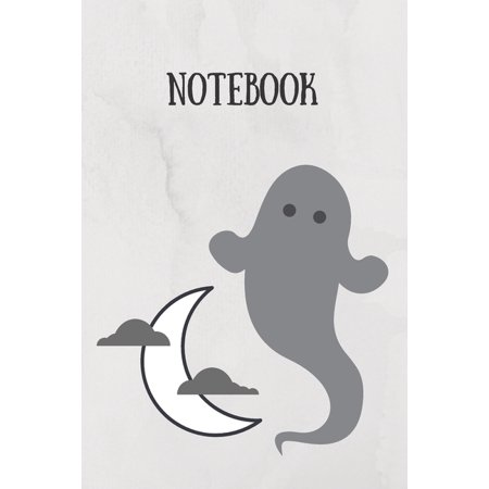 Musica Halloween Film (Notebook: Grey Ghost And Moon Ideal For Horror Film Lovers Perfect Halloween Gift)