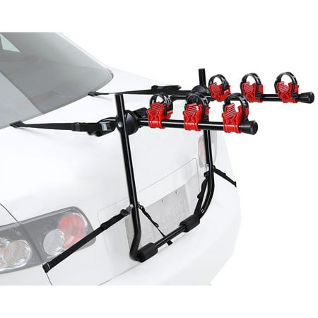 - Yescom 3 Bike Truck Mount Bicycle Carrier Car SUV Foldable Rear Rack w/ Straps