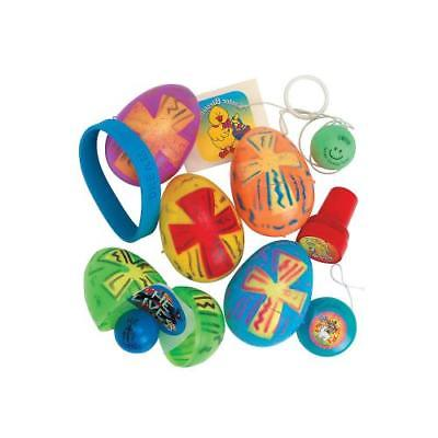 Religious Toy-Filled Bright Plastic Easter Eggs By Fun Express