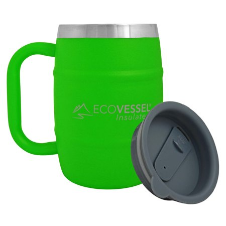 Eco Vessel Double Barrel Mug Mile High Green 16z (Green Barrel Mug)