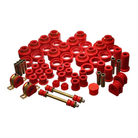 Energy Suspension 92-97 Chevy Suburban 4WD Red Hyper-flex Master Bushing Set