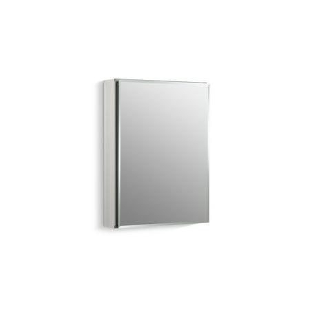 Kohler 20u0022 W X 26u0022 H Aluminum Single-Door Medicine Cabinet with Mirrored Door, Beveled Edges