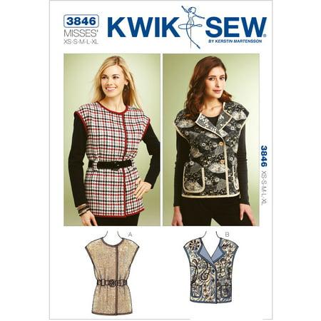Kwik Sew Pattern Cap Sleeve Vests, (XS, S, M, L, XL) - Walmart.com