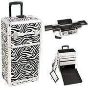 Sunrise I3163ZBWH Zebra Trolley Makeup Case - I3163