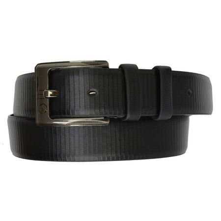 Accessories Designer Belts (AFONiE Designer Mens Black Leather Belt with Buckle)