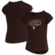 San Diego Padres New Era Girls Youth Flip Sequin T-Shirt - Brown