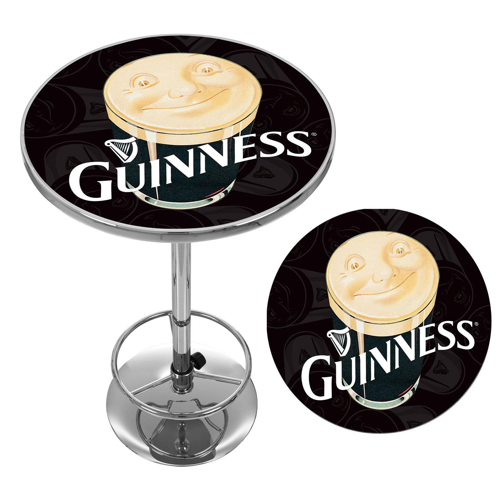 Guinness Chrome Pub Table by Trademark Global LLC