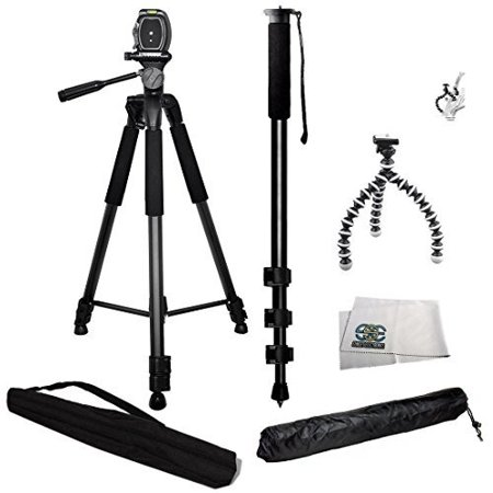 3 Piece Best Value Tripod Package For Sony NEX-5, A65, A77, A77ii, a7s, a6000, a5100, a5000, a3000, A99, A65, A35, A55, A57, A58, A33, A37, A380, NEX-5, Nex5tl, NEX-6, NEX-7, A230, A390, A380, A500,
