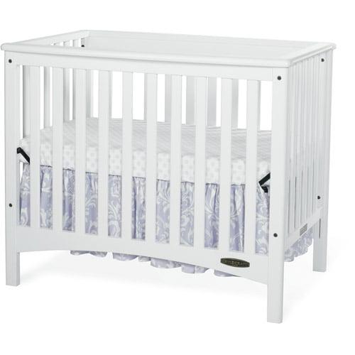 Child Craft London Euro Mini 2-in-1 Convertible Crib and Mattress, Slate