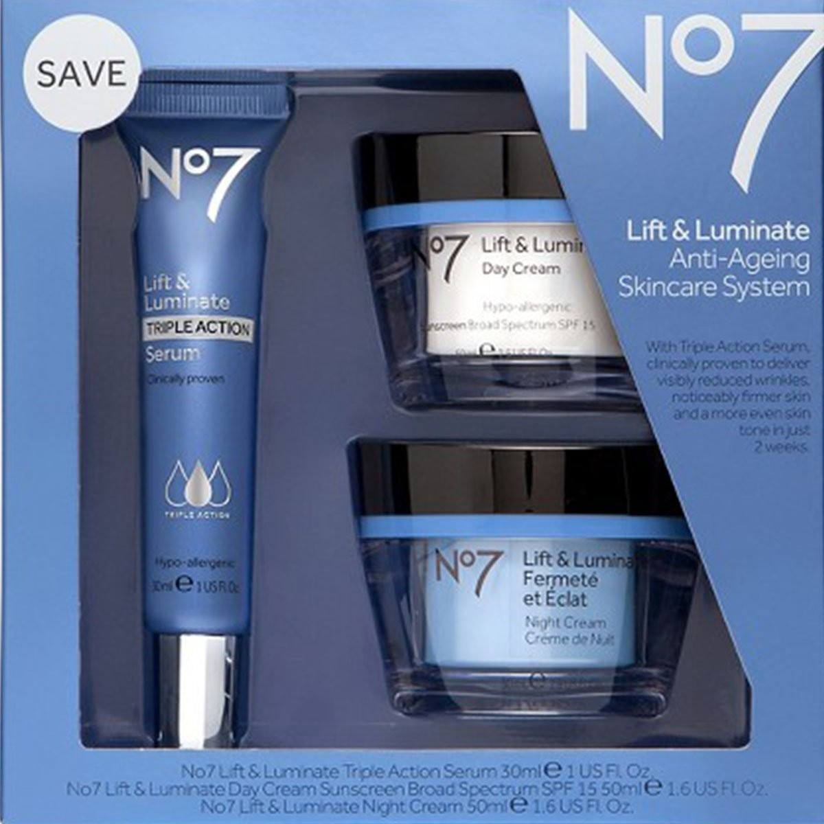 UNASSIGNED No7 Lift & Luminate Skincare Kit - 3 piece kit...
