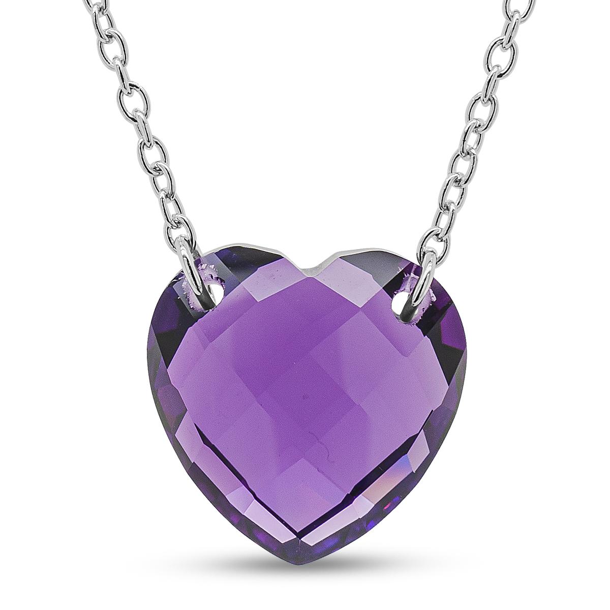 Amethyst Murano glass star 3 charm pendant necklace