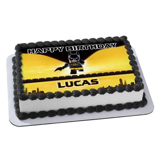 Surprising Lego Batman Quarter Sheet Edible Photo Birthday Cake Topper Personalised Birthday Cards Paralily Jamesorg
