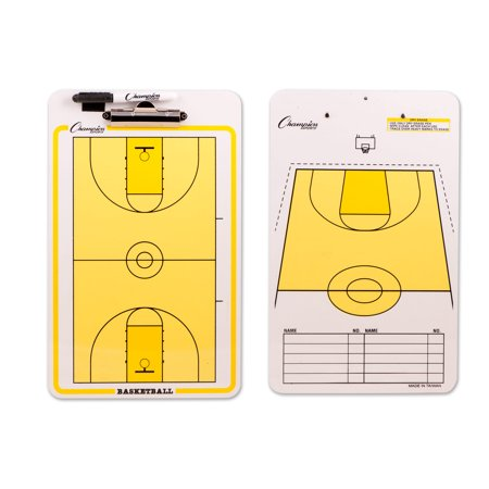 Champion Sports Basketball Coaches Dry Erase Board