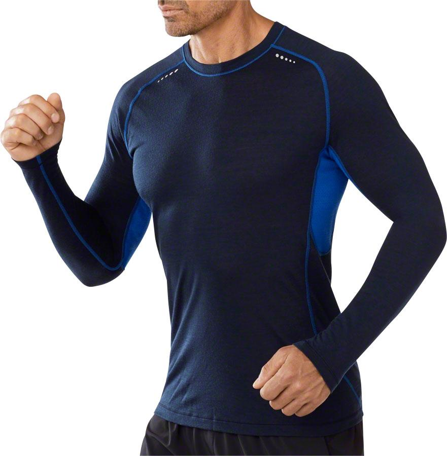 Smartwool PhD Ultra Light Men's Long Sleeve T-Shirt: Blue SM