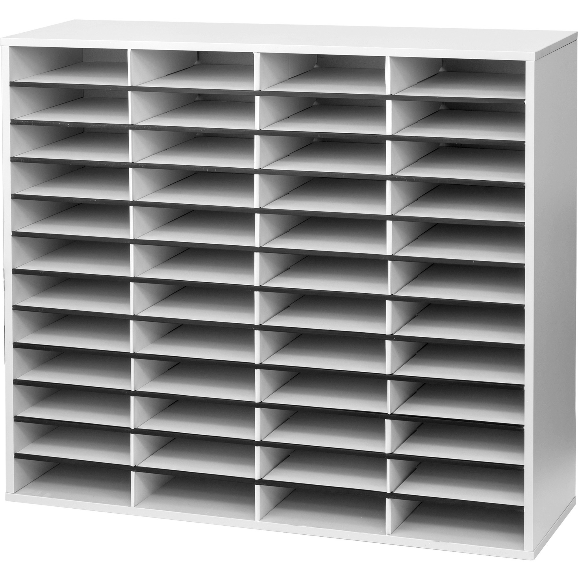Fellowes, FEL25081, Literature Organizer - 48 Compartment Sorter, Dove Gray, 1 Each, Dove Gray