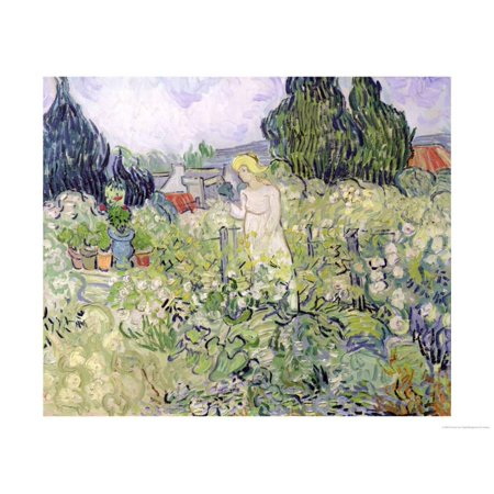 Mademoiselle Gachet in Her Garden at Auvers-Sur-Oise, c.1890 Print Wall Art By Vincent van Gogh ()