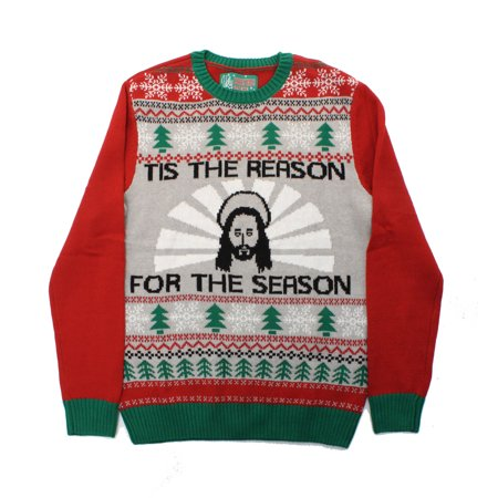 Ugly Christmas Sweater Men's Jesus