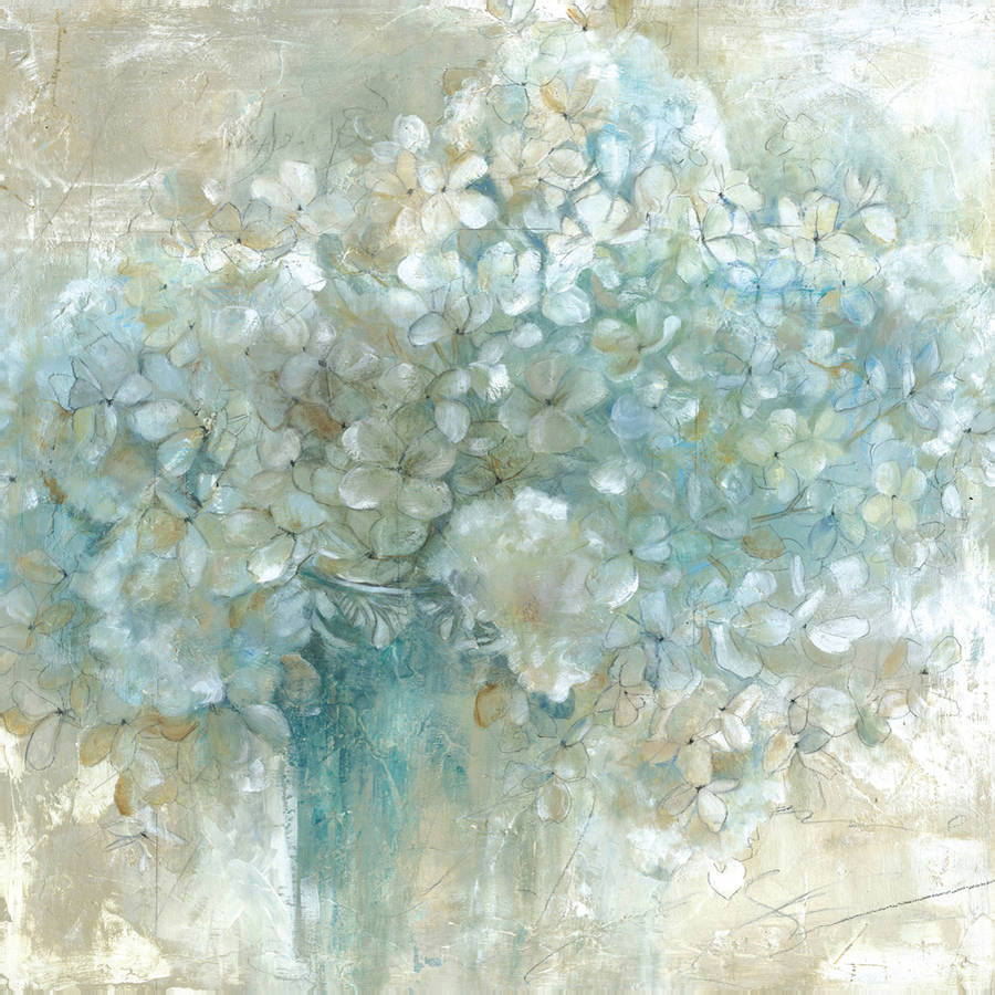 "Portfolio Canvas Decor ""Hydrangeas"" by E. Franklin Large Canvas Wall Artwork,... by Zenixx"