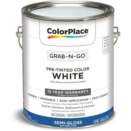 Colorplace Grab N Go Interior Paint White Semi Gloss Finish 1 Gallon