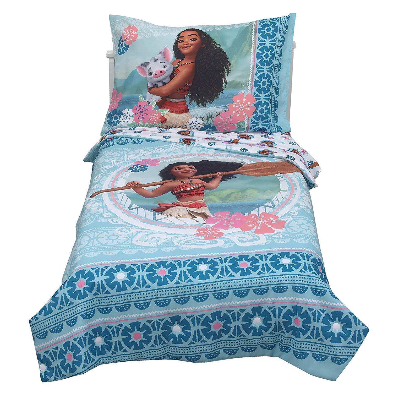 Disney 4 Piece Moana Toddler Bedding Set Walmart Com Walmart Com