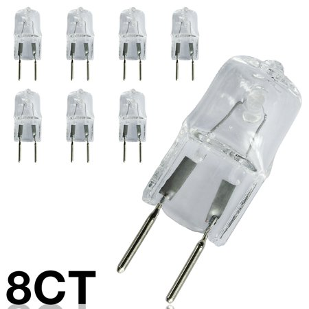 eTopLighting [8-Pack] 20W Replacement G8 Base Bi-Pin Halogen Light Bulb, JCD Type, 8mm Pin Separation, 2,000 Life Hours, 120V Voltage, Value Bundle , WMLS2527 120v Fixture Type
