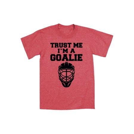 Trust Me I'm A Goalie Funny Ice Hockey Mask Sport Novelty Humor - Mens T-Shirt - Novelty Shop Near Me