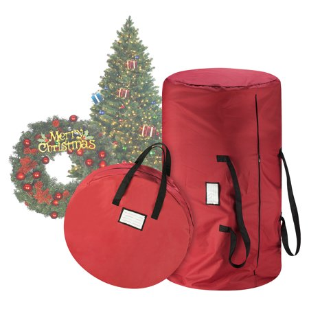 tiny tim totes premium red canvas christmas tree storage bag 30 inch wreath bag. Black Bedroom Furniture Sets. Home Design Ideas