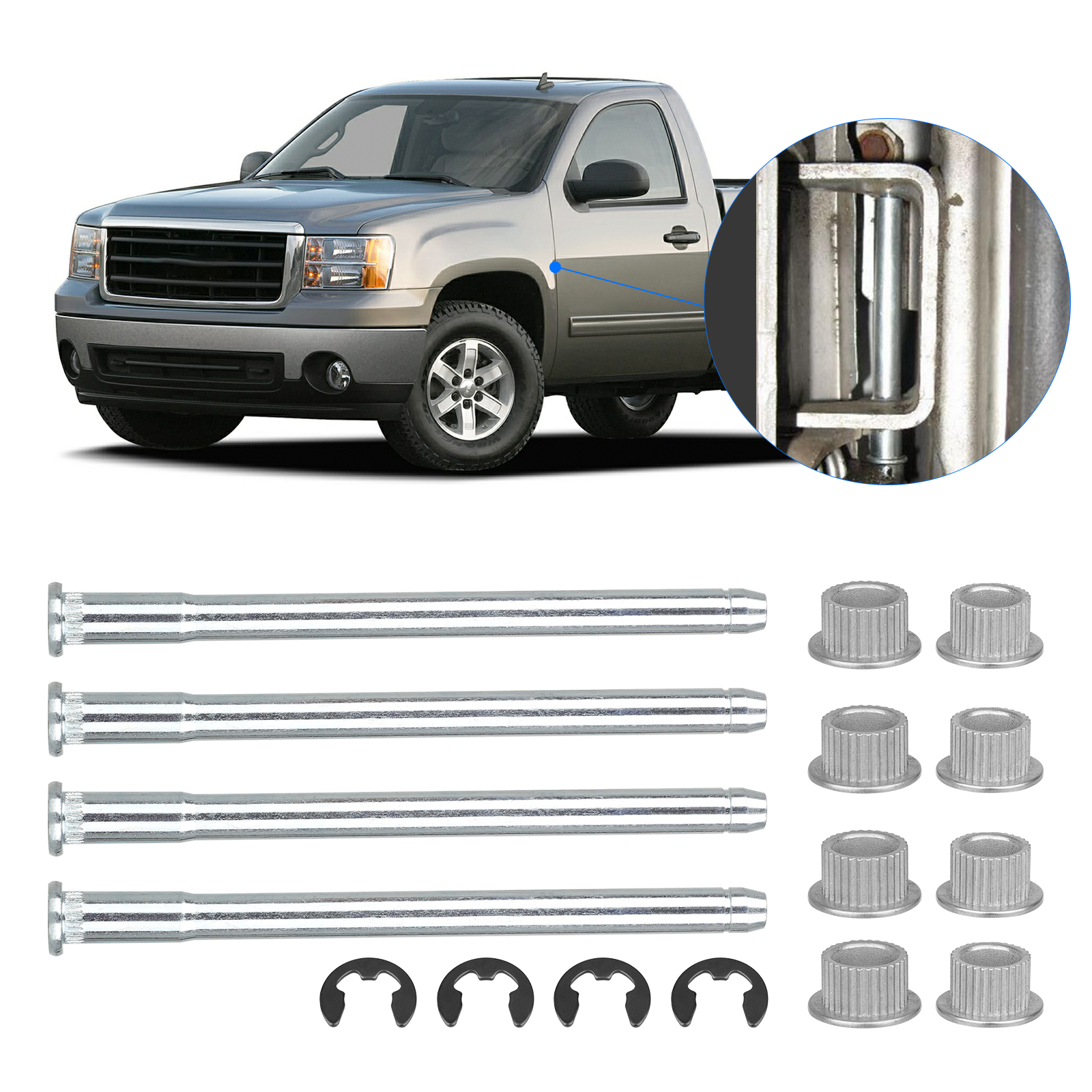 For Chevy GMC Full size Truck SUV Door Hinge Pins 88-02 2 DOOR Accessories Nice