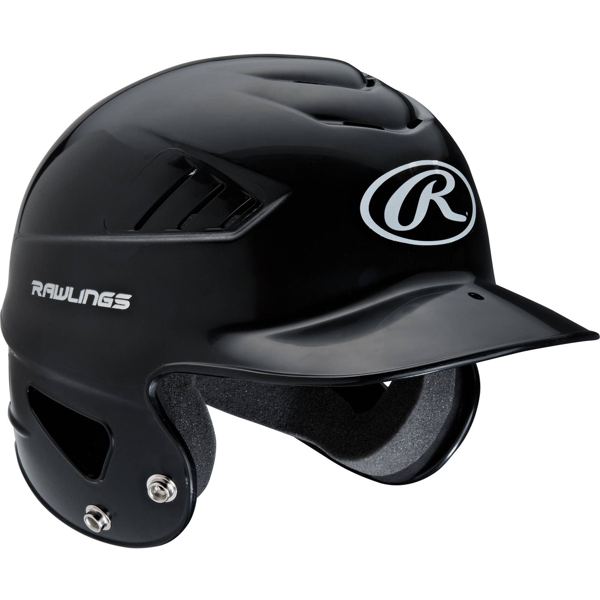 Rawlings Coolflo Molded Baseball Batting Helmet, Black