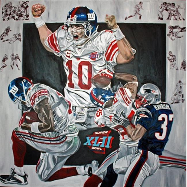 Deacon Jones Foundation DC-06SW Superbowl XLII Art Print, by Dave Courson - Stretched and Wrapped - image 1 de 1