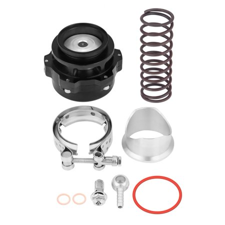Yosoo Aluminum Alloy Universal 50mm/2inch Car Turbo Blow Off Valve BOV Kit with Adapter Spring, 50mm Blow Off Valve,Blow Off Valve Blow Off Valve Adapter