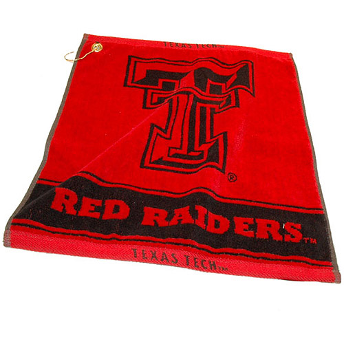 Team Golf NCAA Texas Tech Jacquard Woven Golf Towel