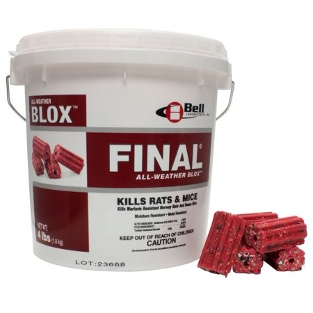 Bell Labs Rodent (Bell Final Blox Rodent Bait Poison 18#- Brodifacoum )